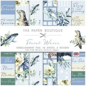 """The Paper Boutique Floral Waves 8"""" Embellishments Pad  36pg"""
