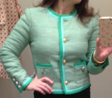 NWT $198 J.Crew Spearmint Tweed Jacket 4 JCrew Women Quilted Jacket Sold-Out!!