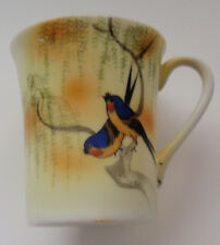 "1- NIPPON   ""Blue Birds Cup"" Hand Painted Japan @ 2-3/4"" high."