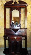 EDELHOLZ GARDEROBE KLEIDER SCHRANK DIELE FLUR WARDROBE CABINET antik antique 17