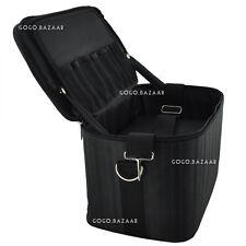 Beauty Box Makeup Cosmetic Nail Tech Beautician Black Bag Case #339