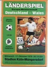 EM-Qualifikation 17.10.1979 Deutschland / Germany - Wales in Köln / Cologne