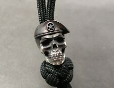 """Collectible Solid Bead """"Special Forces"""" Knife Paracord Lanyard ,Handmade"""