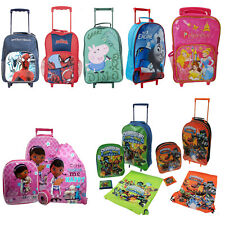 KIDS CHILDRENS BOYS GIRLS JUNIOR BAG CHARACTER WHEEL SCHOOL TRAVEL CASE SUITCASE