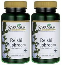 120 Caps 2X Reishi Mushroom (Ganoderma, Ling Zhi) 600MG Enhance Immunity + Bonus