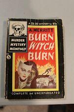 RARE BURN WITCH BURN A.Merritt AVON Murder Mystery Monthly #5 1942 SCARCE Pulp