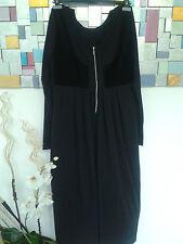 Cut Loose der Luxus Designer schwarzes langes Kleid Zofenkleid Gr. XL    S19