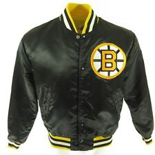 Vintage 80s Starter NHL Hockey Boston Bruins Satin Jacket M