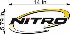 "Nitro Boats Logo Oval / 14"" Vinyl Vehicle Watercraft Fishing Gear Decal Sticker"