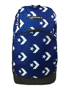 Converse Go Logo Print Blue/White Unisex Backpack W/Laptop Sleeve 9A5325-B6A NEW