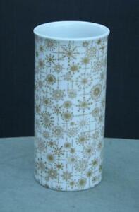 Thomas Vase Germany Mid Century Modern Gold Snowflakes Wiinblad Hans Bauman