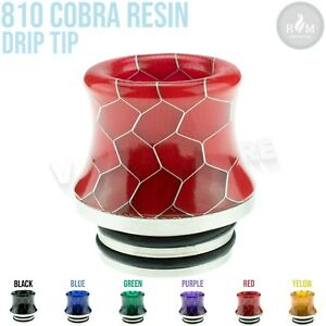 (Pack of 1) Smok 810 Epoxy Resin COBRA Drip Tip TFV8 Big Baby, TFV12 Prince