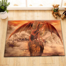 Dragon Mountain Nonslip Soft Bath Mat Bathroom Bedroom Floor Rug Shower Carpet