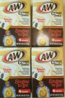 A&W Cream Soda Drink Mix Singles To Go 4, 8 or 12 Boxes of drink mix