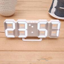large 3d modern digital led skeleton wall clock timer hour display usb
