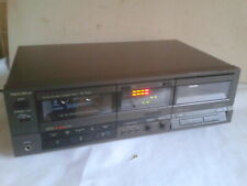 Technics Stereo Twin Cassette Deck, Model RS-TR255. Made in Japan - 1989. Black.