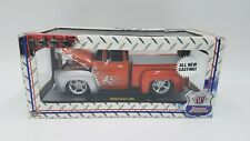 M2 Ground Pounders - 1956 FORD F-100 PICKUP - Orange/ Silver FLAMES - 1:24 - NOS