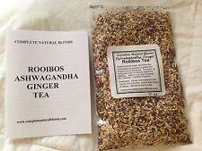 ROOIBOS ASHWAGANDHA GINGER TEA 4 oz digestion root organic herbal Ayurveda vata