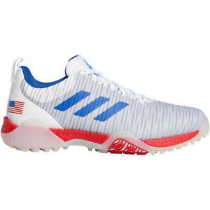 NEW Mens Adidas 2020 CODECHAOS Golf Shoes White/Blue/Scarlet USA-Pick Size!
