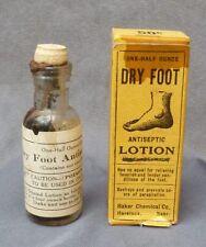 NEBRASKA MEDICINE BOTTLE-Dry Foot Antiseptic Lotion-Havelock-Box-Label-Contents-