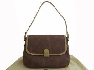 Auth ETRO Peisly Shoulder Bag Multicolor/Goldtone PVC/Leather - e48704g