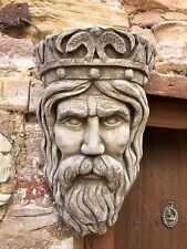 Kings head stone planter ornament wall plaque,garden/home,Wall hanging sculpture