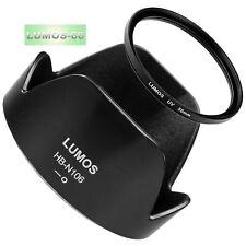 Gegenlichtblende HB-N106 UV Filter 55mm passt zu Nikon AF-P 18-55 Nikkor LUMOS