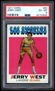 JERRY WEST $800++ PSA 6 EX-MT MINT LA LAKERS HOF #50 SP 1971-72 TOPPS BASKETBALL