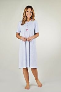 LADIES PLUS SIZE 100% PURE STRETCH COTTON SHORT SLEEVED NIGHTIES  SIZE 12-30