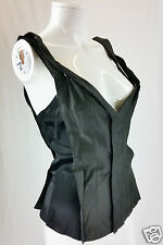 STELLA McCARTNEY FITTED BLACK BODICE / CORSET TOP (UK 10)