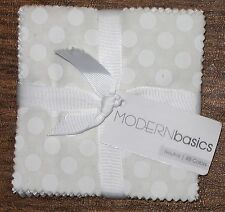 "(45) 5"" Fabric Squares - Modern Basics Neutral Beige Brown - Michael Miller"