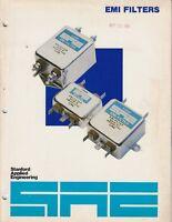 1981  vintage EMI Filter Brochure catalog   /h5
