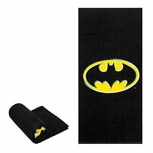 Licensed Batman Emblem Fiber Reactive Bath/Beach Towel 30x60 Inches DC Comics