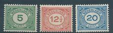 1921TG Nederland Cijferserie nr.107-109 postfris mooie series. Zie foto's.