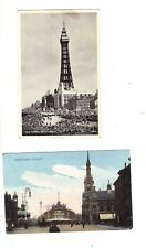TALBOT SQUARE, BLACKPOOL (1908) & CROWDED BLACKPOOL BEACH (1957)