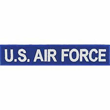 USAF U.S. AIR FORCE NAME TAPE STYLE PATCH BLUE WHITE VETERAN AIRMAN
