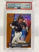 2019 Bowman's Best Juan Soto Orange Refractor #25/25 PSA 10 GEM MINT. Pop 2