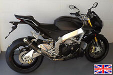 Aprilia Tuono V4R 10-14 SP Engineering Carbon Fibre Stubby Moto GP Exhaust