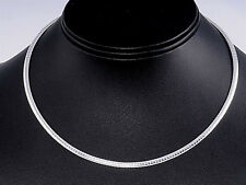 USA Seller Italian Omega 3mm Necklace Sterling Silver 925 Best Deal Jewelry 18""