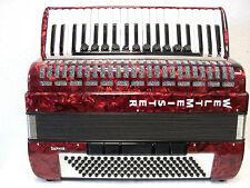 WELTMEISTER Akkordeon Saphir rot mit Koffer - Vorführinstrument