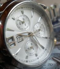 Clean S/S Men's Movado ESQ Chronograph Date Swiss Quartz Watch E5290 Runs