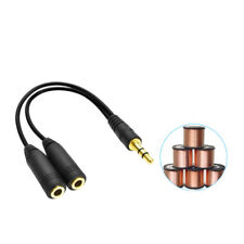 Audio Aux Cable Male to 2x Female Stereo Extension Headphone Splitter Cord 3.5mm