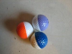 3 Vintage Ping 2 Color Golf Balls