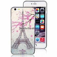 Paris Eiffel Tower Pink Flower Slim Soft Case Cover for Apple iPhone 6 Plus