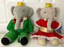 Vintage 1977 Eden Toys Babar And Celeste Elephant Plush