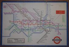 LONDON UNDERGROUND - BECK'S TRI-FOLD PASSENGER MAP FOR 1936.