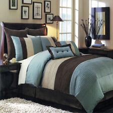 Full Size 12PC Hudson Comforter Set with matching Skirt Shams Cushions & Sheets