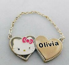 HELLO KITTY Enamel Heart Shape Sterling Silver Pendant * FREE SHIPPING SERVICE*