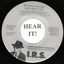 Belinda Carlisle 80s ROCK 45 (IRS 52815) Mad About You /I Never Wanted A Rich M-