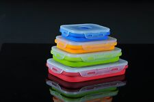 Sailing Elegant Silicone Collapsible Lunch Box/Food Storage Container, Set of 4